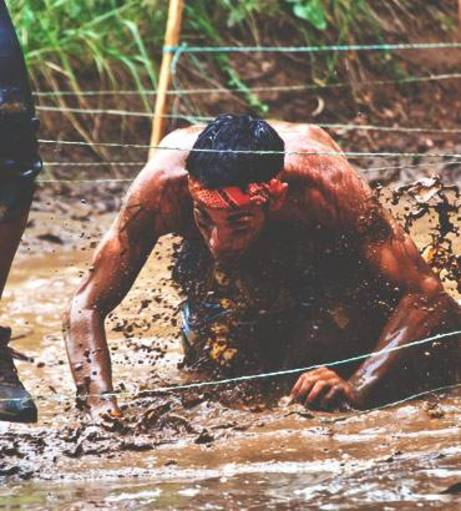 Essex Stag Do Ideas - Mud Jumping
